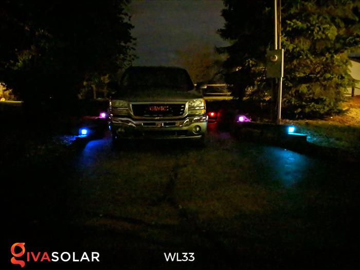 Đèn ốp tường chạy năng lượng mặt trời WL33 25