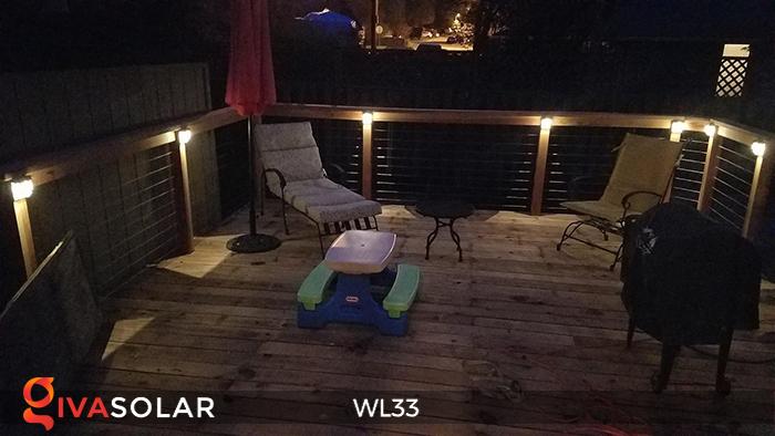 Đèn ốp tường chạy năng lượng mặt trời WL33 26