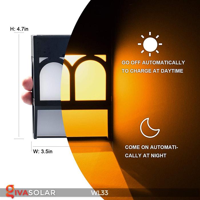 Đèn ốp tường chạy năng lượng mặt trời WL33 5