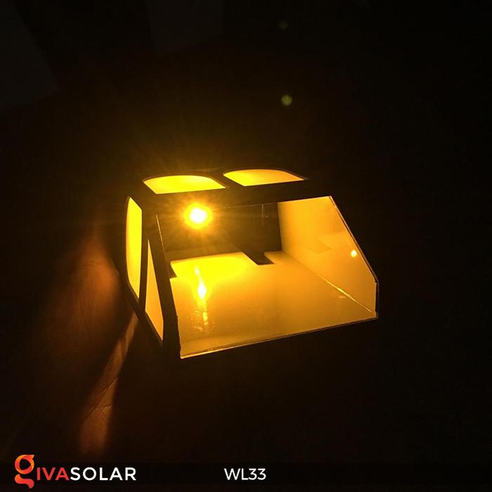 Đèn ốp tường chạy năng lượng mặt trời WL33 8