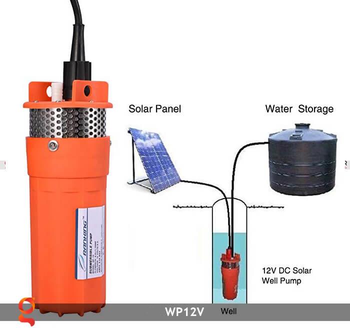 Máy bơm nước chạy năng lượng mặt trời WP12V 10