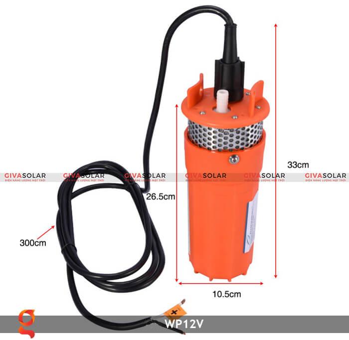 Máy bơm nước chạy năng lượng mặt trời WP12V 8