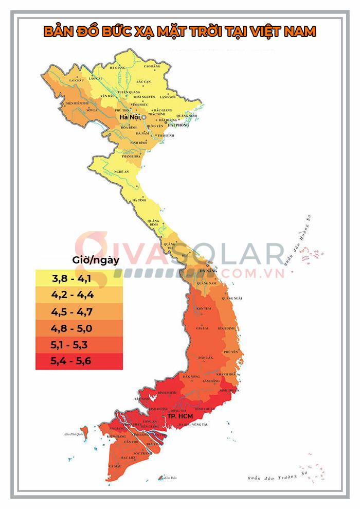 Bức xạ mặt trời là gì? Bản đồ bức xạ mặt trời tại Việt Nam 3