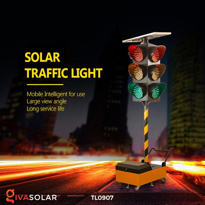 Cây đèn tín hiệu giao thông năng lượng mặt trời TL0907 1