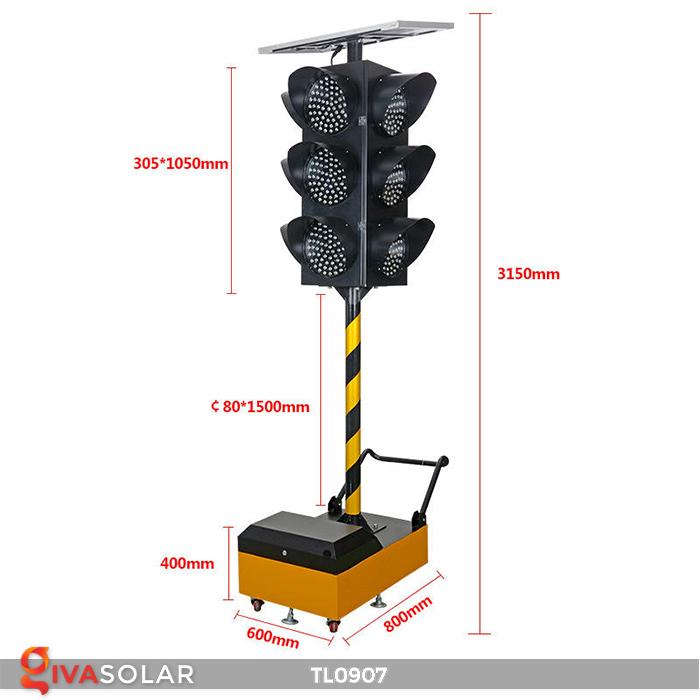 Cây đèn tín hiệu giao thông năng lượng mặt trời TL0907 17