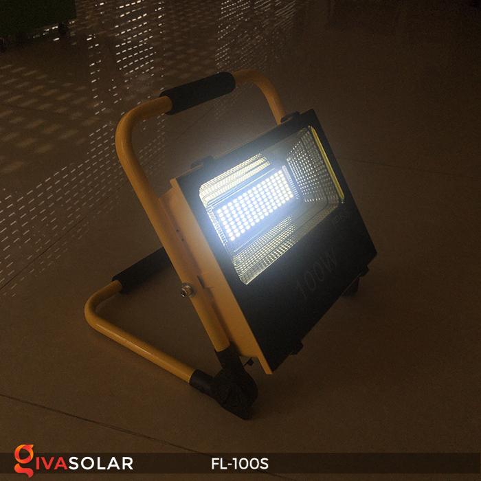 Đèn pha sạc năng lượng mặt trời FL-100S 4