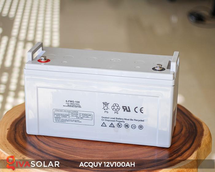 Acquy sử dụng trong công nghệ năng lượng mặt trời 12V100AH 1
