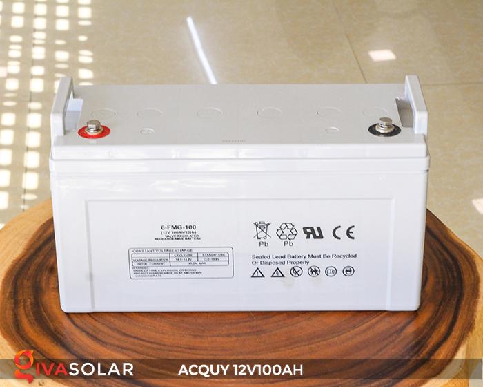 Acquy sử dụng trong công nghệ năng lượng mặt trời 12V100AH 2