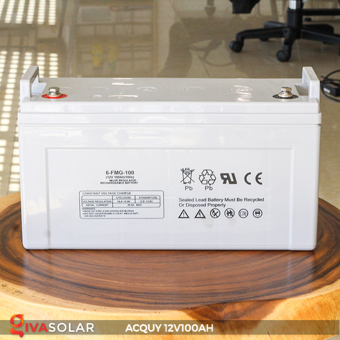 Acquy sử dụng trong công nghệ năng lượng mặt trời 12V100AH 4