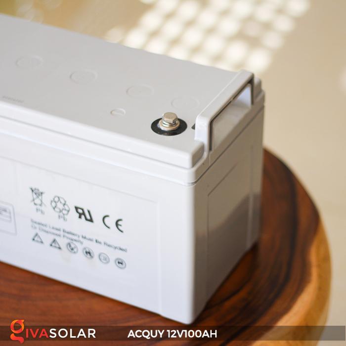 Acquy sử dụng trong công nghệ năng lượng mặt trời 12V100AH 8