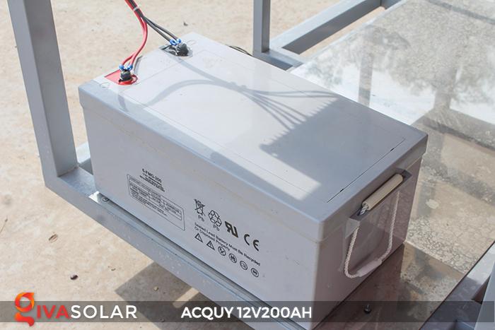 Acquy 12V200AH ứng dụng trong điện năng lượng mặt trời 2