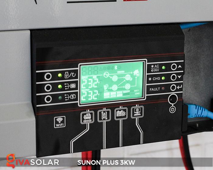 Bộ inverter năng lượng mặt trời Sako SUNON-PLUS 3kW 7