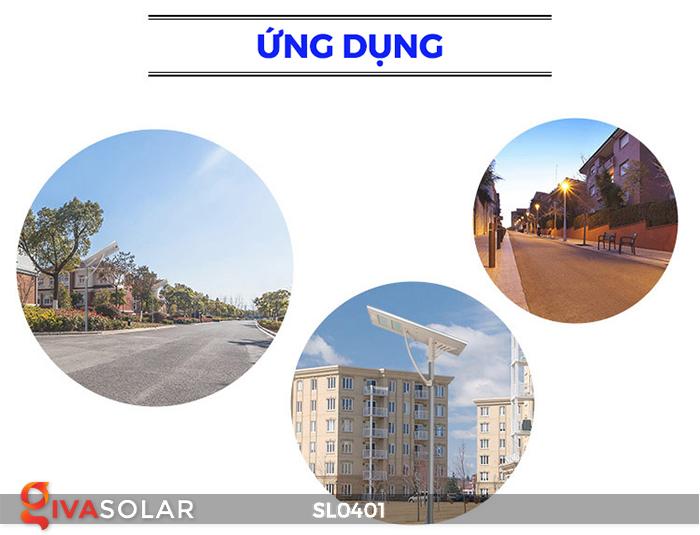 Đèn đường LED cao cấp năng lượng mặt trời SL0401 12