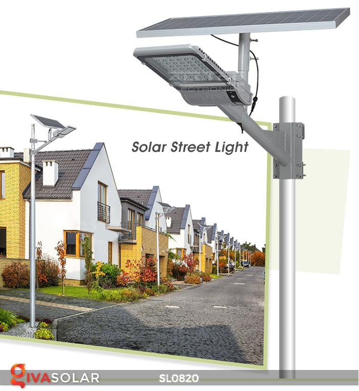 Đèn đường LED năng lượng mặt trời cao cấp SL0820 1
