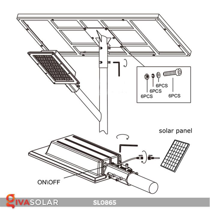Đèn năng lượng mặt trời chiếu sáng đường phố SL0865 14