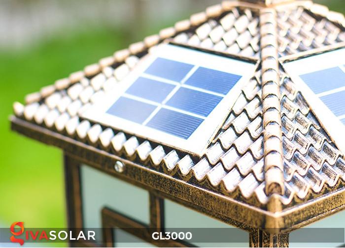 Đèn trụ cổng chạy điện mặt trời cao cấp GL3000 1