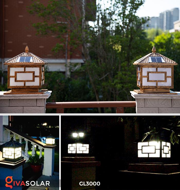 Đèn trụ cổng chạy điện mặt trời cao cấp GL3000 11