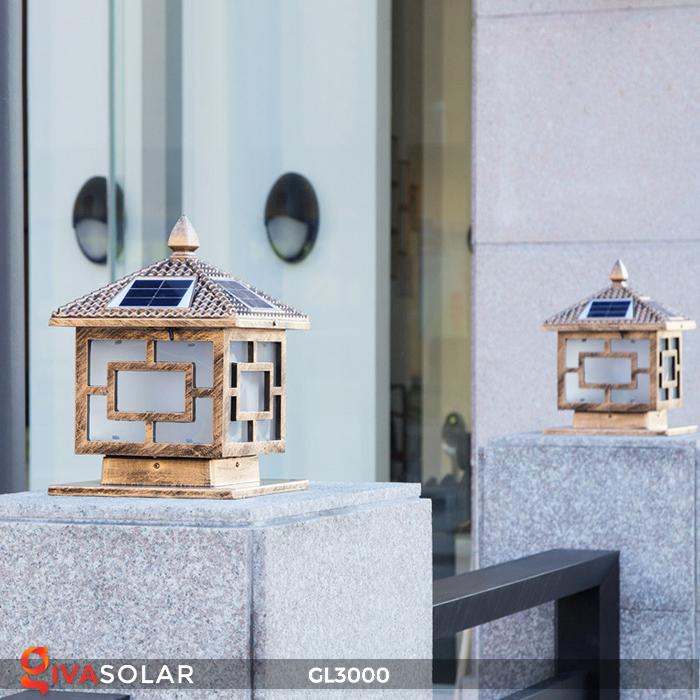 Đèn trụ cổng chạy điện mặt trời cao cấp GL3000 12