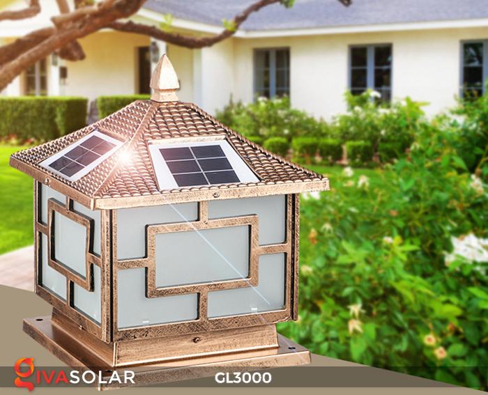 Đèn trụ cổng chạy điện mặt trời cao cấp GL3000 14