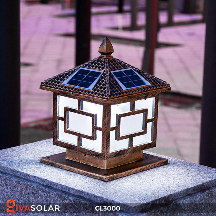 Đèn trụ cổng chạy điện mặt trời cao cấp GL3000 17