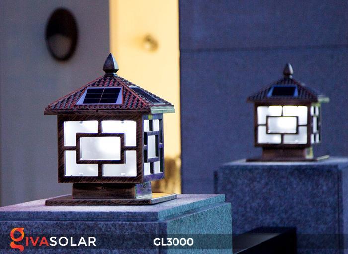 Đèn trụ cổng chạy điện mặt trời cao cấp GL3000 18