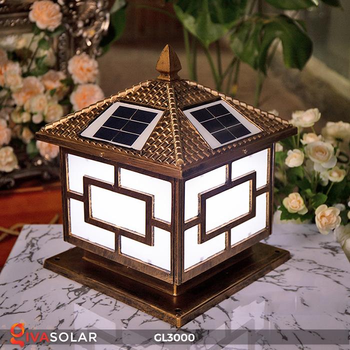 Đèn trụ cổng chạy điện mặt trời cao cấp GL3000 19