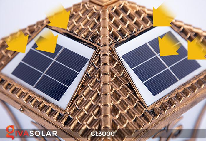 Đèn trụ cổng chạy điện mặt trời cao cấp GL3000 2