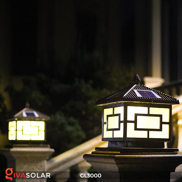 Đèn trụ cổng chạy điện mặt trời cao cấp GL3000 20