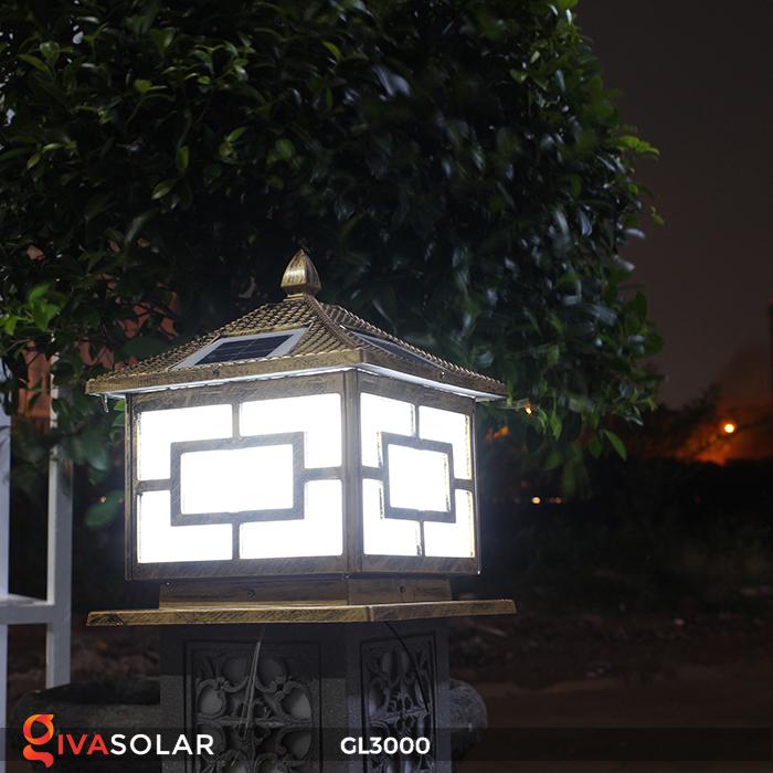 Đèn trụ cổng chạy điện mặt trời cao cấp GL3000 22