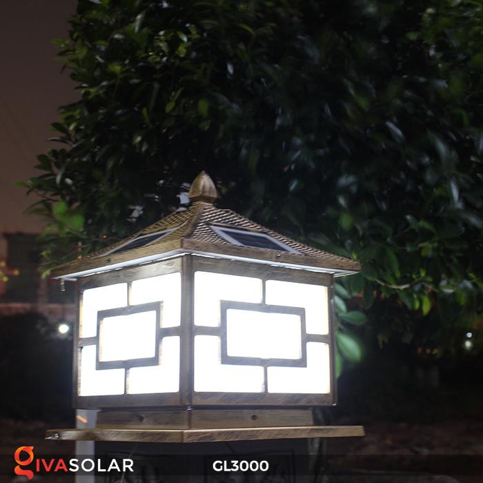 Đèn trụ cổng chạy điện mặt trời cao cấp GL3000 23