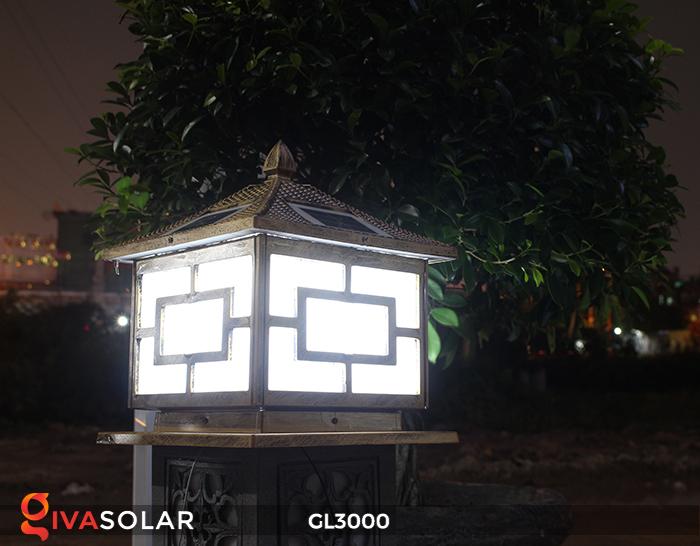 Đèn trụ cổng chạy điện mặt trời cao cấp GL3000 24