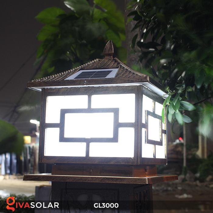 Đèn trụ cổng chạy điện mặt trời cao cấp GL3000 25