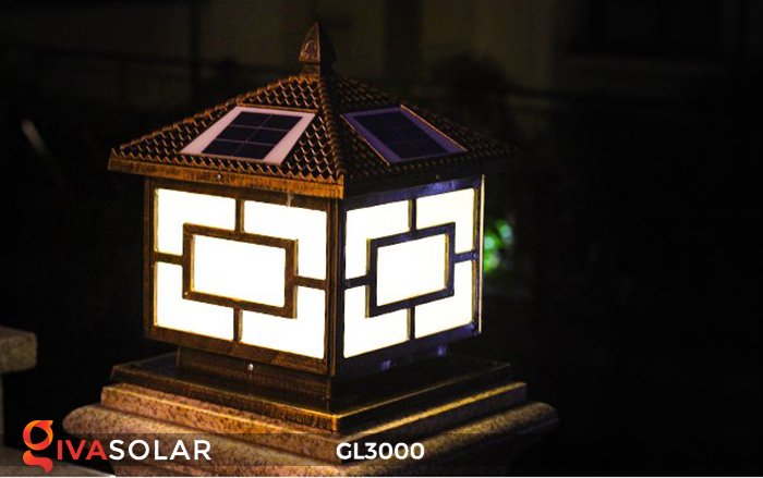 Đèn trụ cổng chạy điện mặt trời cao cấp GL3000 26