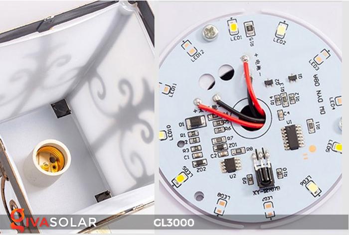 Đèn trụ cổng chạy điện mặt trời cao cấp GL3000 8