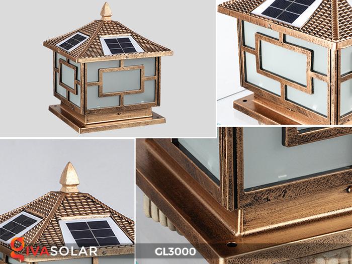 Đèn trụ cổng chạy điện mặt trời cao cấp GL3000 9