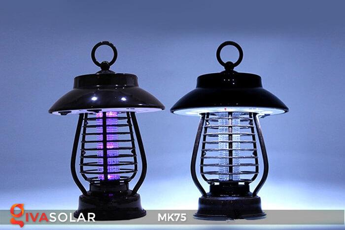 Đèn năng lượng mặt trời diệt côn trùng sân vườn MK75