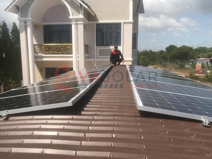 Hệ thống điện năng lượng mặt trời hòa lưới 5kW tại Bình Thuận 1