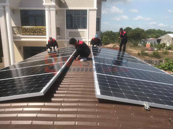 Hệ thống điện năng lượng mặt trời hòa lưới 5kW tại Bình Thuận 2
