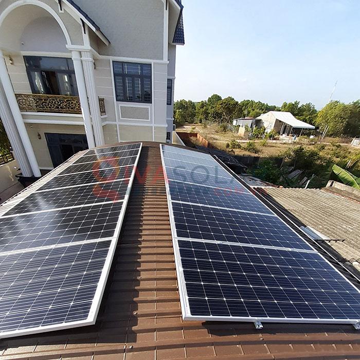 Hệ thống điện năng lượng mặt trời hòa lưới 5kW tại Bình Thuận 3