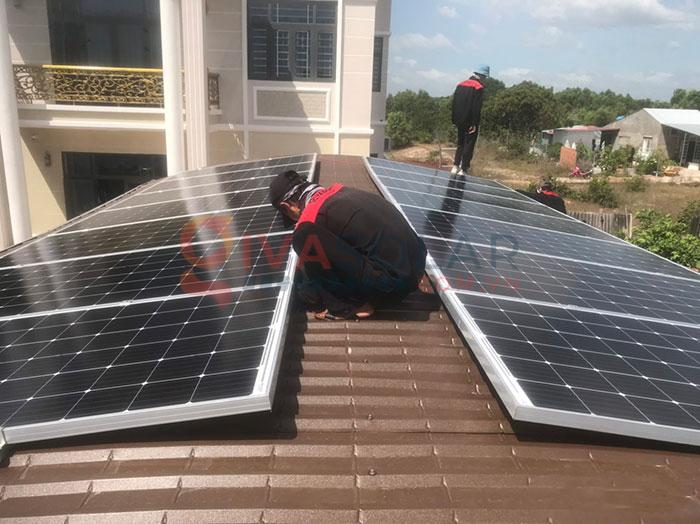 Hệ thống điện năng lượng mặt trời hòa lưới 5kW tại Bình Thuận 4
