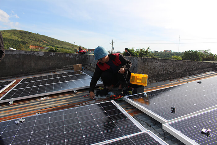 Hoàn thành hệ thống điện mặt trời quy mô lớn 40kW tại Lâm Đồng 16