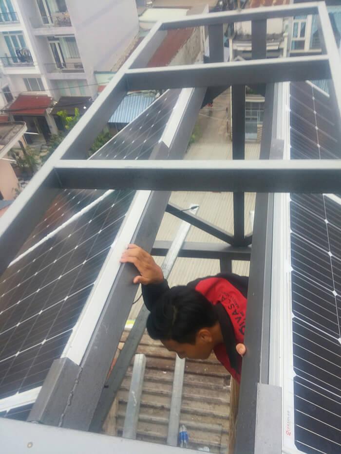 Hoàn thành dự án điện năng lượng mặt trời 6.8 kW tại Bình Tân 9