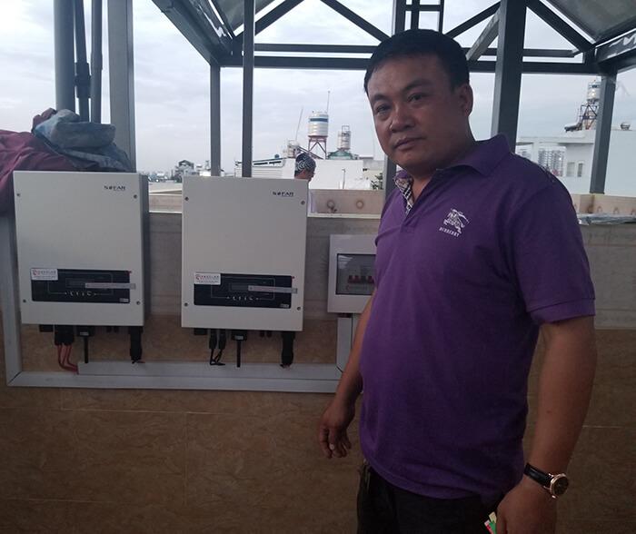 Hoàn thành dự án điện năng lượng mặt trời 6.8 kW tại Bình Tân 17