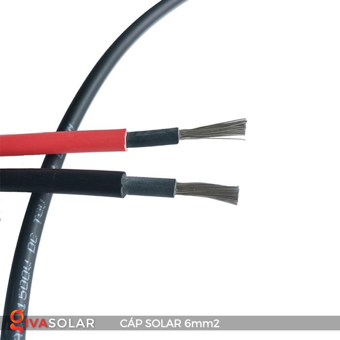 Linh kiện lắp đặt pin năng lượng mặt trời: Dây cáp điện DC 6mm2 11