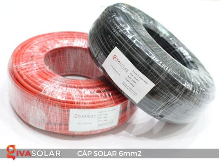 Linh kiện lắp đặt pin năng lượng mặt trời: Dây cáp điện DC 6mm2 1