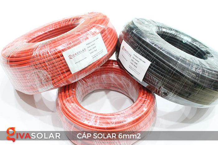 Linh kiện lắp đặt pin năng lượng mặt trời: Dây cáp điện DC 6mm2 2