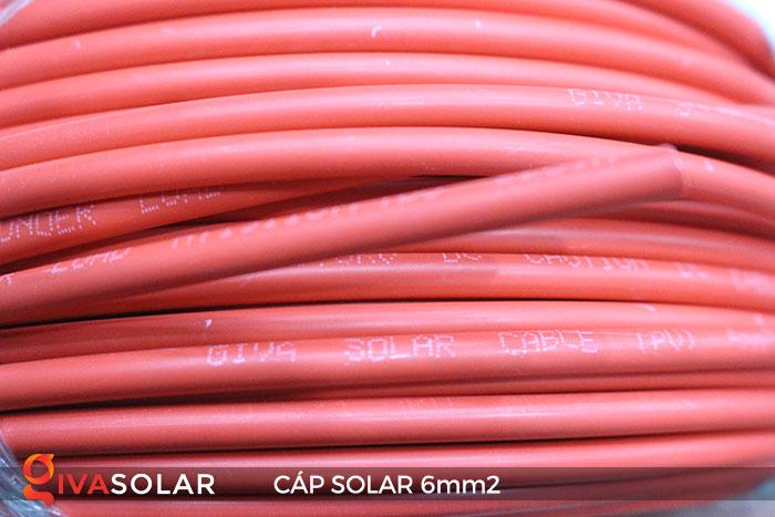 Linh kiện lắp đặt pin năng lượng mặt trời: Dây cáp điện DC 6mm2 5