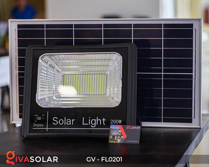Đèn pha LED năng lượng mặt trời cao cấp FL0201 - 200W 1