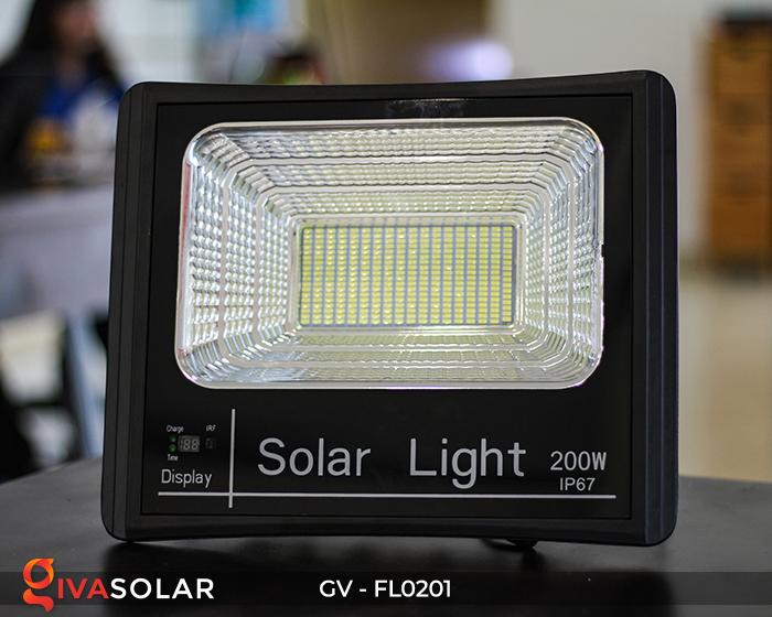 Đèn pha LED năng lượng mặt trời cao cấp FL0201 - 200W 12