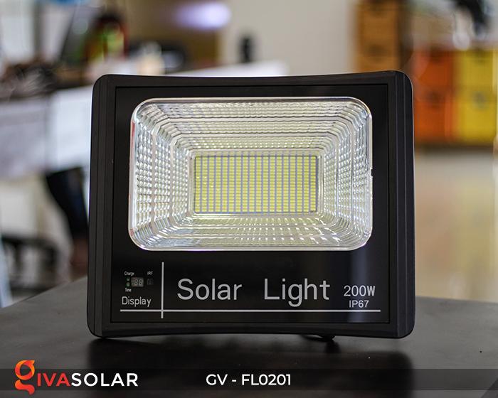 Đèn pha LED năng lượng mặt trời cao cấp FL0201 - 200W 2